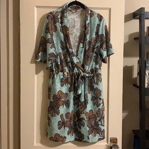 Zara Floral Short sleeve dress size Large